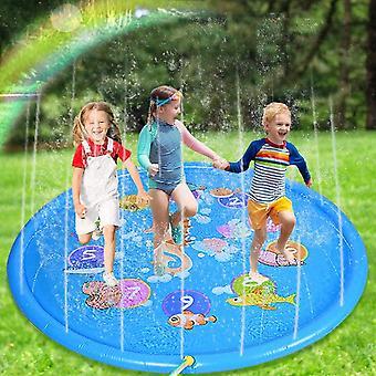 """子供のためのガンボル夏のスプリンクラーパッド、円形、5/8""""ホースと互換性のある170cm"""