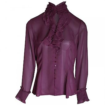 Apanage Women's Long Sleeve Frill Detail Blouse