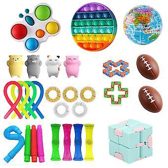 Brinquedos sensoriais fidget definir bubble pop alívio de estresse para crianças adultos Z470