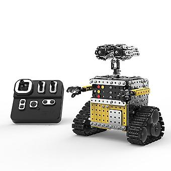 728Pcs 2.4ghz 10 channel rc robot building blocks diy stainless steel toy assembly kits