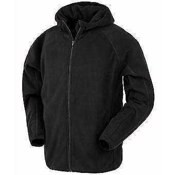 Result Genuine Recycled Mens Hooded Fleece Jacket