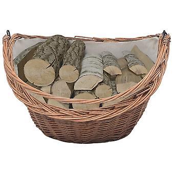 cestello in legno vidaXL con maniglia da trasporto 60 x 44 x 55 cm pascolo naturale
