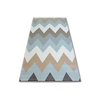 سجادة ARGENT - W4936 zigzag الأزرق