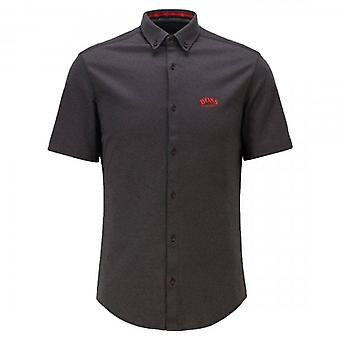 Boss Green Hugo Boss Biadia_R Short Sleeve Shirt Black 001 50449241