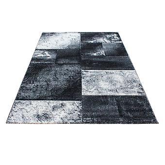 Kort stapel design matta rektangel pläd mönster vardagsrum matta Grå Fläckig