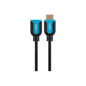 Maplin Premium HDMI Förlängningskabel - Svart, 0.75m