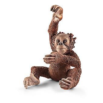 SCHLEICH Wild Life Ung Orangutang Leksak Figur