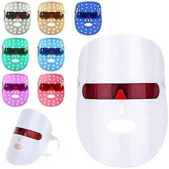 7 لون LED قناع الفوتون، حب الشباب ضوء العلاج قناع، العلاج بالضوء قناع الوجه، أبيض