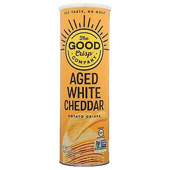 The Good Crisp Company Chips Aged White Cheddar, Cas de 8 X 5,6 Oz