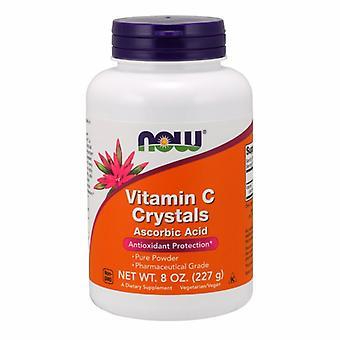 אבקת גבישי ויטמין C של Now Foods, 8 אונקיות