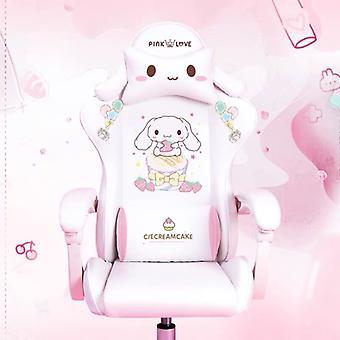 Schattige cartoon stoelen slaapkamer comfortabel kantoor computer stoel thuis meisjes gaming stoel draaistoel verstelbare live gamer stoelen