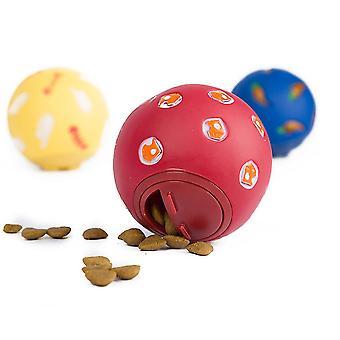 3pcs Treat Ball Toy Interactive Dispenser Food Rubber Dog