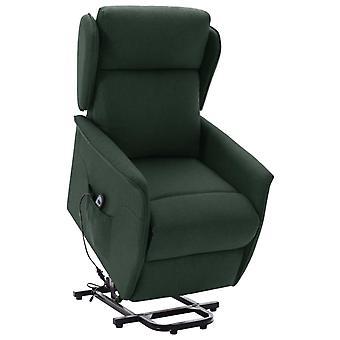 vidaXL recliner with rise-up aid Dark green fabric