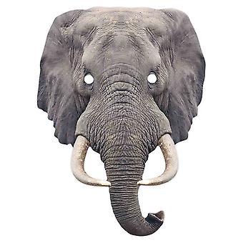 Elephant 2D Animal Single Card Party Mask