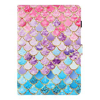 """Case For Ipad 9 10.2"""" Generation 2021 Cover Auto Sleep/wake Rotating Multi-angle Viewing Folio Stand - Color Fish Scales"""