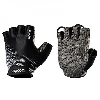Outdoor Riding Gloves Silicone Printed Anti Slip Half Finger Sports Fitness Gloves