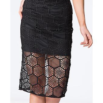 Honeycomb Pattern Beaded Skirt