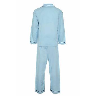 Champion Férfi Pamut Blend Button Első Pizsama Lounge Wear - Kék - 3Xl