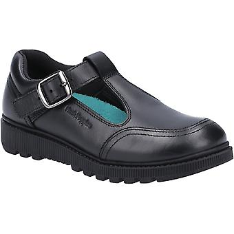 Hush puppies kid's kerry senior school shoe black 30818