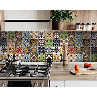 "5"" X 5"" Auguri Geo Peel and Stick Removable  Tiles"