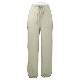 DG2 By Diane Gilman Women's Pants French Terry Pull On Jogger Green 686443