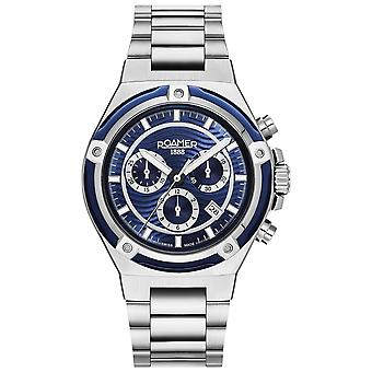 Roamer 221837 41 45 20 Tempomaster Chronograph Steel Bracelet Wristwatch