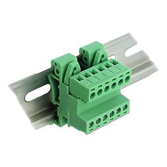 Set de bloques de terminales de desebloqueo para carril DIN de 6 pines con paso de 5,08 mm en ángulo