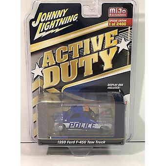 1999 Ford F-450 Tow Truck Shore County Police 1:64 Scale Johnny Lightning JLCP7255