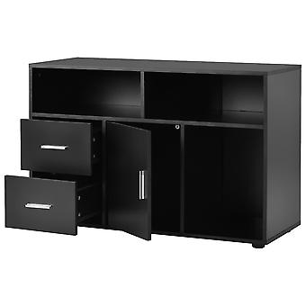 Modern Sideboard Storage  Tv Unit Cabinet Table With 2 Drawers And 1 Door