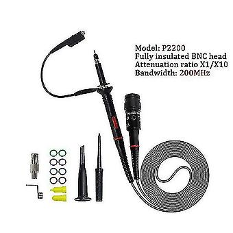 Metal detectors 1set high quality p6100 oscilloscope probe dc-6mhz dc-100mhz scope clip probe free shipping p2200