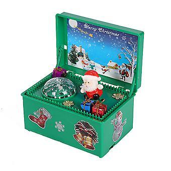 YANGFAN Electric Santa Claus Music Box Christmas Decor Toy