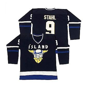 Men's #9 Gunnar Stahl Iceland Island Ice Hockey Jersey Stitched