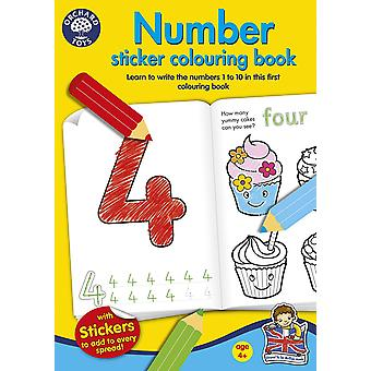 Orchard Number Sticker Colouring Book