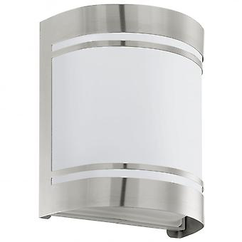 Eglo Cerno Outdoor Stainless Steel Wall Light