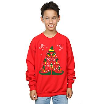 Elf Boys Christmas Tree Sweatshirt