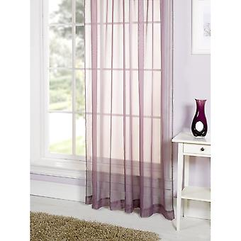 Lucy Plain Coloured Voile Panel Curtain