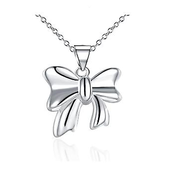 Womens Bow Tie Charm Pendant Necklace