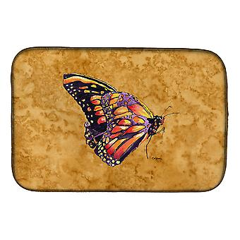 Carolines Treasures  8858DDM Butterfly on Gold Dish Drying Mat