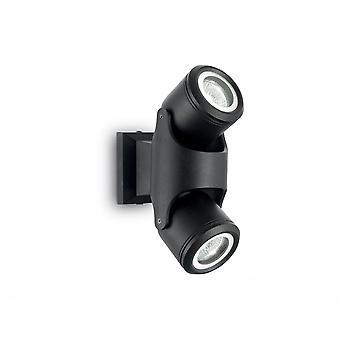 Ideal Lux Zeno Twin Spotlight Wandleuchte verstellbar, schwarz