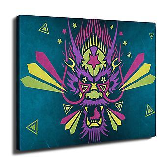 Kiinan Dragon fantasia Wall Art Canvas 40 cm x 30 cm | Wellcoda