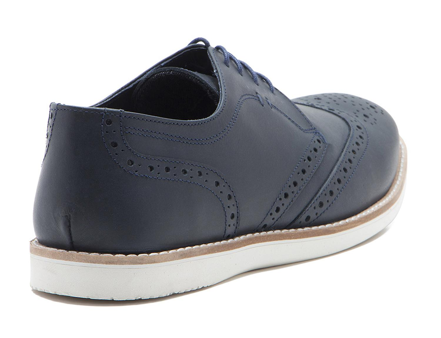 Red Tape Tirley Mens Navy Leather Brogue Gibsons