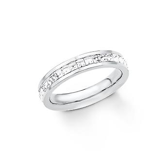 s.Oliver joia senhoras anel inox prata 201854