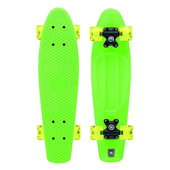 Xootz Kid's Retro Plastic Skateboard with LED Light Up Wheels Green 22-Inch