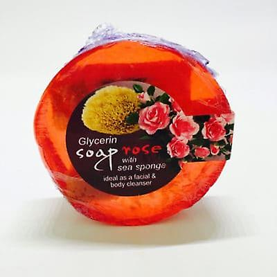 Glycerin face soap with Sea sponge - Roses 100gr