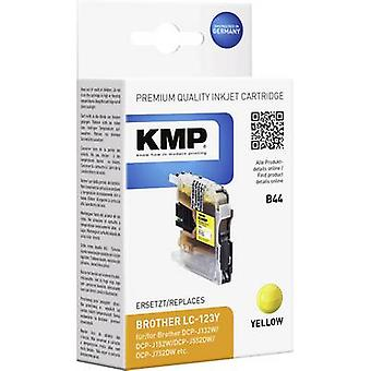 KMP tinta sustituye Brother LC-123 Compatible B44 amarillas 1525,0009