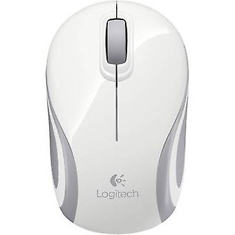 Logitech M187 Radio Wi-Fi mouse Optical Ergonomic, Built-in scroll wheel White