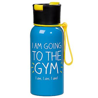 Happy Jackson I Am Going To The Gym Water Bottle