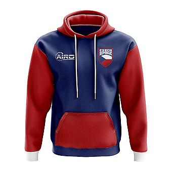 Repubblica Ceca concetto Football paese Hoody (Navy)