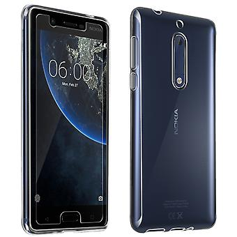 Back case + Screen Protector Tempered Glass Clear Nokia 5