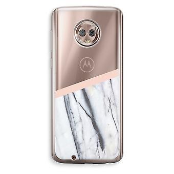 Motorola Moto G6 transparant Case (Soft) - een vleugje perzik